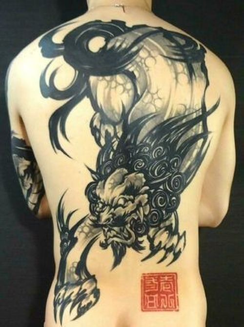 8a5911a82 34 Foo Dog Tattoo Ideas (2019) | expression | Japanese tattoo artist ...