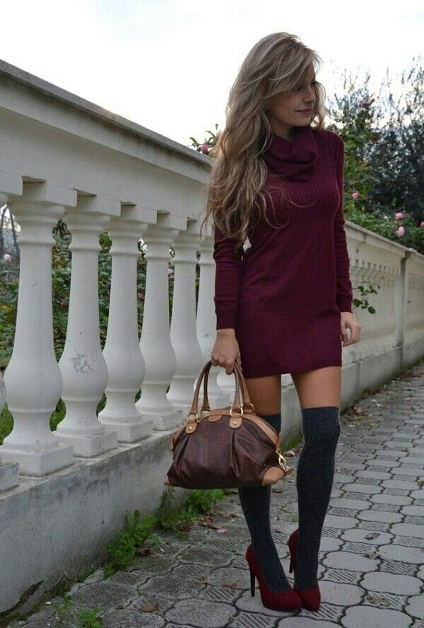 Winter dress #outfit #fashion