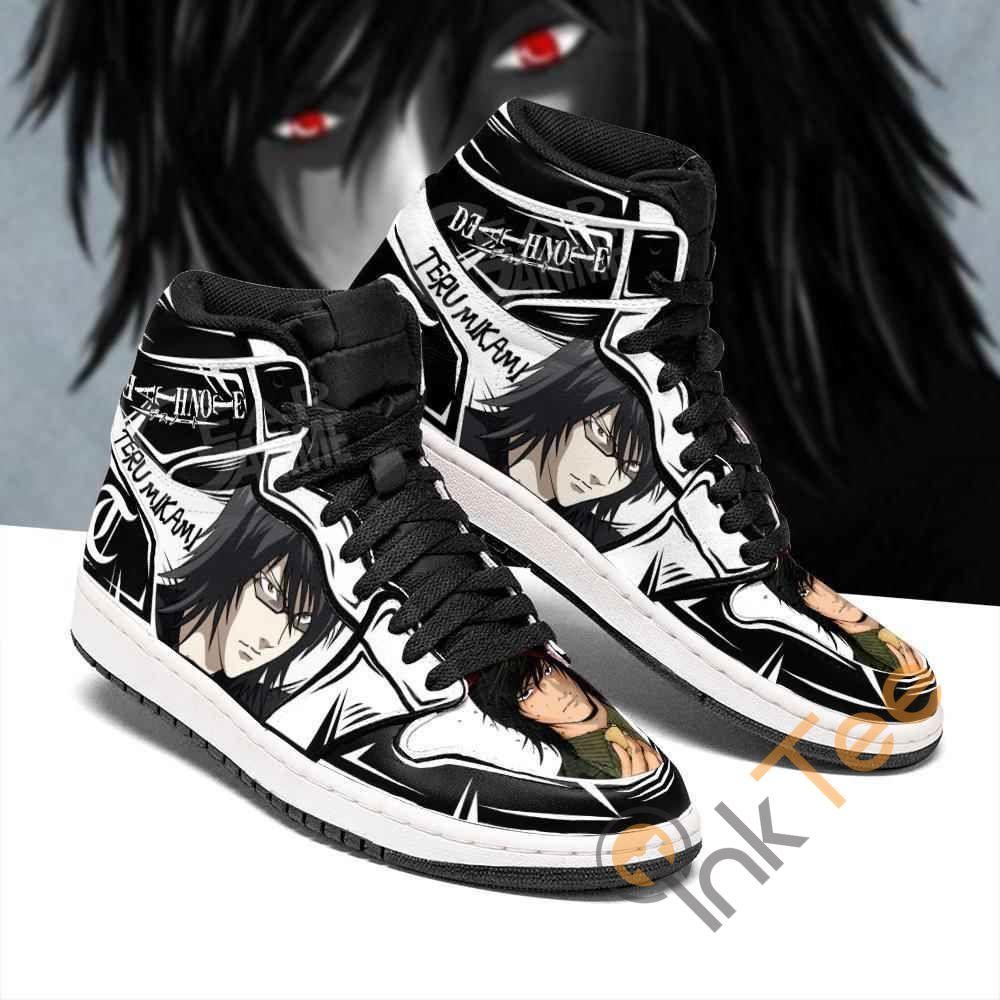 Light Teru Mikami Custom Death Note Sneakers Anime Air Jordan Shoes