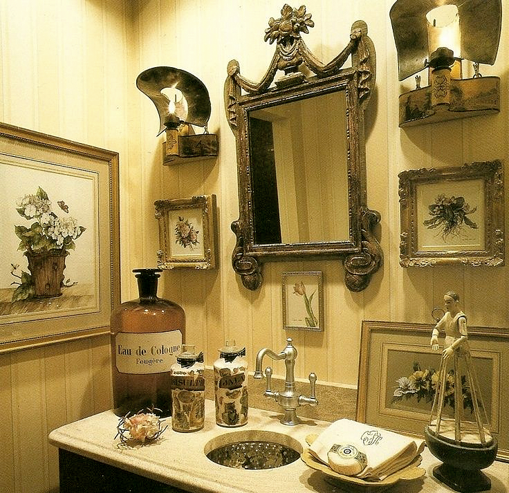 Country French Bathrooms: Charles Faudree Bathroom Vignette.