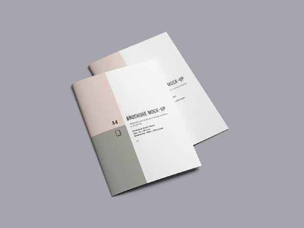 a4 brochure mockup free psd download norlan pinterest mockup