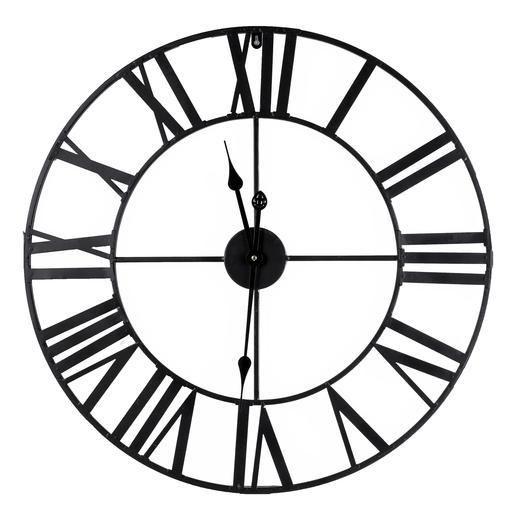 horloge acier Ø 70 cm noir horloge pinterest