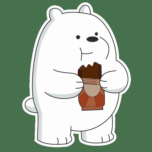 Набор стикеров для Telegram «Белый медведь»