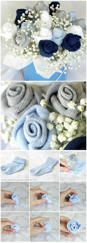 Baby Socks Flower Bouquet Tutorial A Bouquet Of Baby