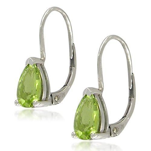 Sterling Silver Pear-Shaped 5x8mm Peridot Lever Back Earrings Amazon Curated Collection. $25.00. Made in China. Save 20% Off!