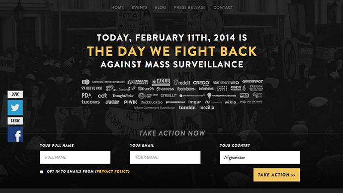 Thousands of websites protest surveillance, honor Aaron Swartz - More than 6,000 websites, including Reddit, Tumblr, Mozilla are taking part in an online protest against government surveillance | EUTimes.net