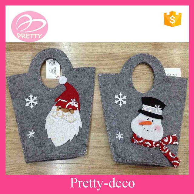 source wholesale india price santa claus and snowman felt christmas gift bags on malibaba