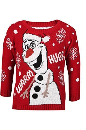 frozen christmas sweaters featuring anna and elsa or olaf will charm your little frozen fan this