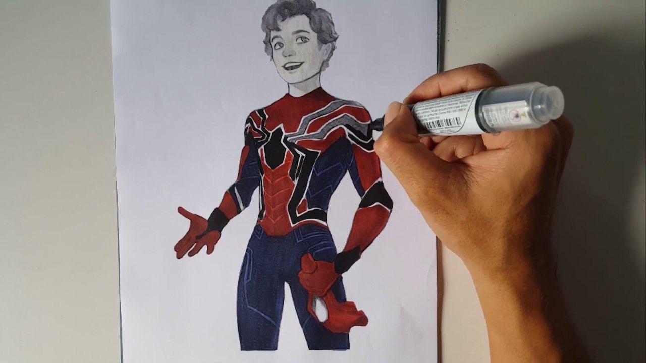 Iron Spider Peter Parker Spider Man Homecoming Coloring Pages Sailan Iron Spider Spiderman Peter Parker