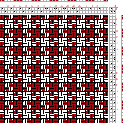 Hand Weaving Draft: Page 159, Figure 11, Textile Design and Color, William Watson, Longmans, Green & Co., 4S, 4T - Handweaving.net Hand Weaving and Draft Archive