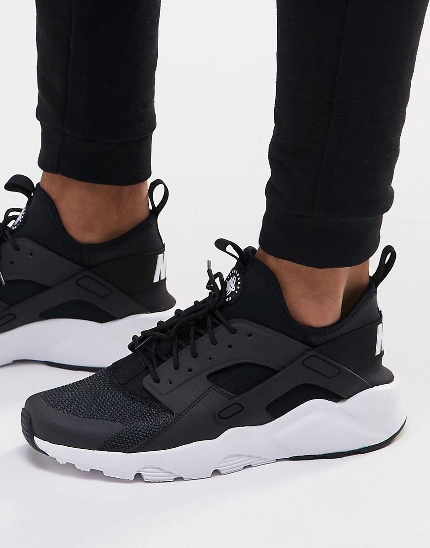 Nike Air Huarache Run Ultra Sneakers In Black