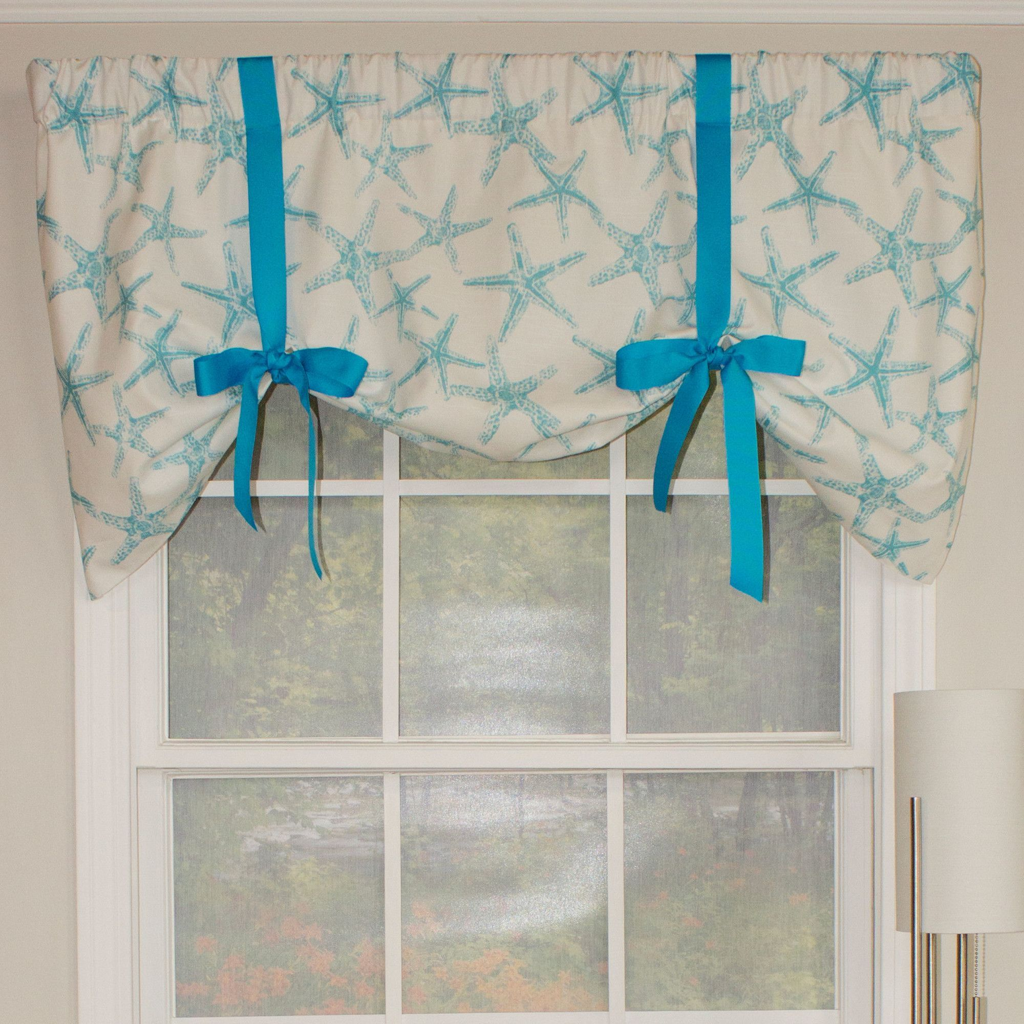 Beach Star Tie Up 50 Curtain Valance Curtains Valance Curtains Valance