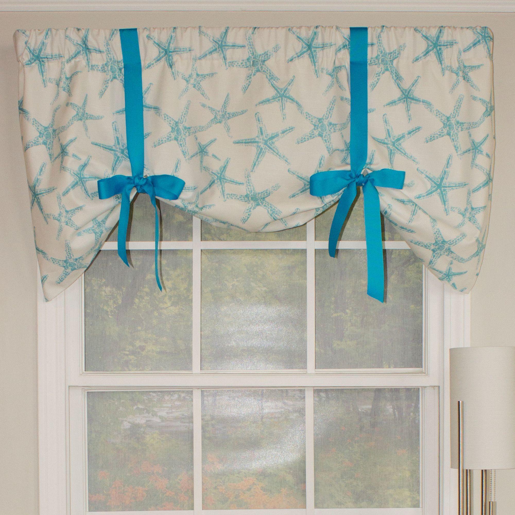 Beach Star Tie Up 50 Curtain Valance Curtains Valance Curtains