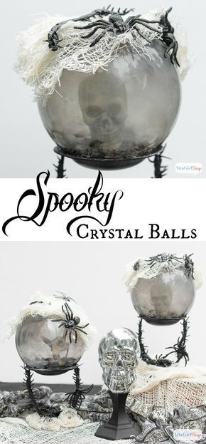 Dollar Tree Halloween Crystal Ball Craft Scary Decorations Extraordinary Halloween Crystal Ball Decoration