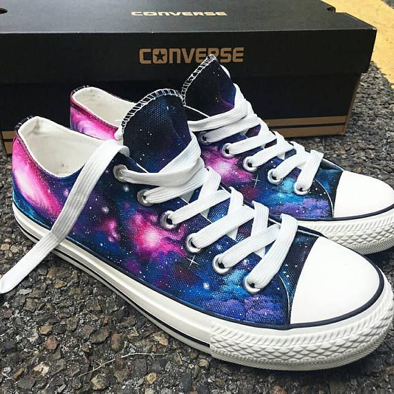 Custom Painted Galaxy Converse, Personalized Handpainted