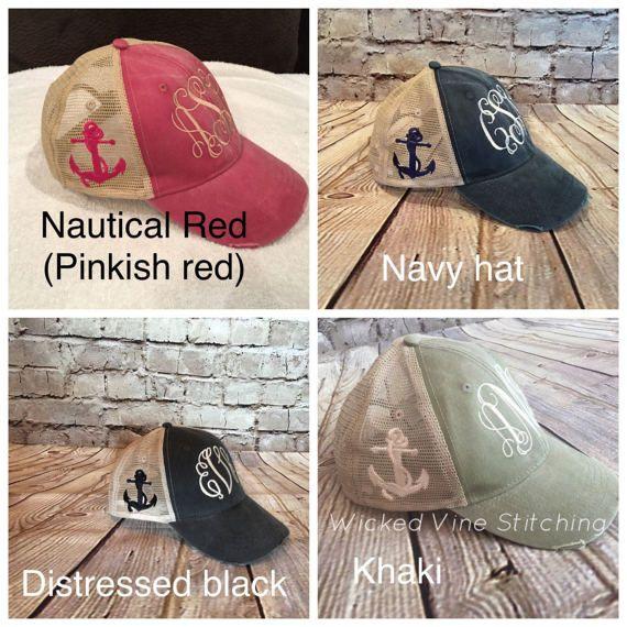 46e5b82d49b8d Anchor Women monogram hat trucker hat monogram trucker hat