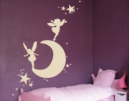 Wandtattoo Mond mit Elfen | Kids rooms, Babies and Room