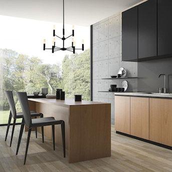 Scott Living Milan Matte Black Modern/Contemporary