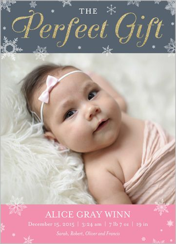 Sparkling Gift Girl 5x7 Stationery Card by Blonde Designs | Shutterfly- $1.79