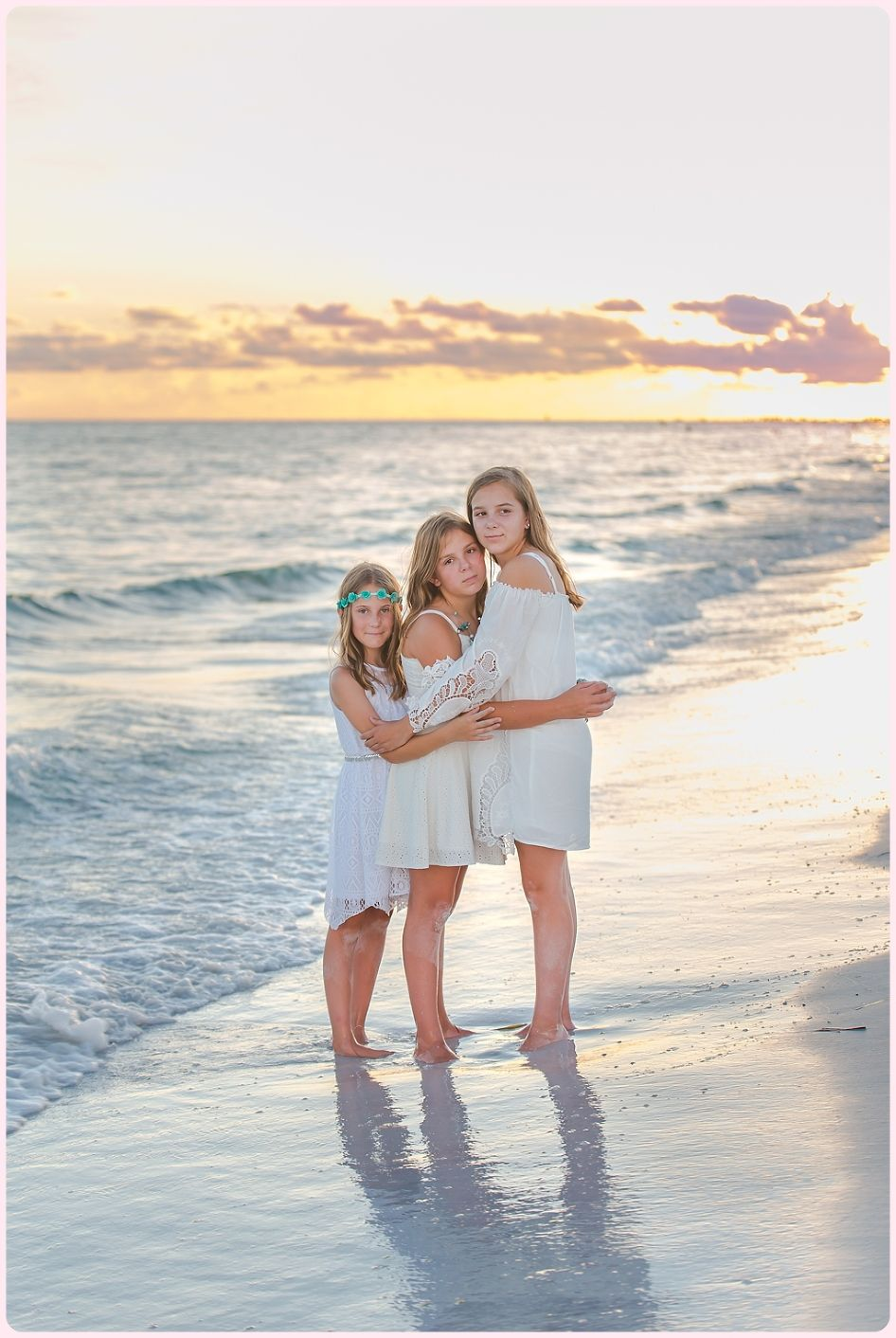 Sunset beach session at Siesta Key by Sarasota portrait photographer www.ristainophotography.com