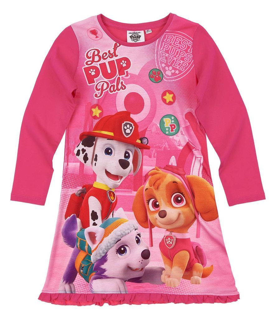 afdbe7d506 Paw Patrol Girls Nightie Night Dress Nightwear Cotton 3-8 Years - Fushia