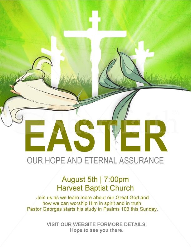 Easter Flyer Template  Easter Flyer Templates    Flyer
