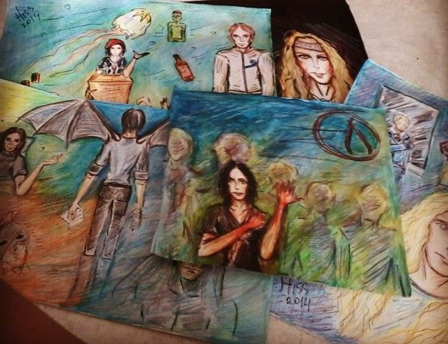 all #drawing #art #aquarellepencils #people #fantazy