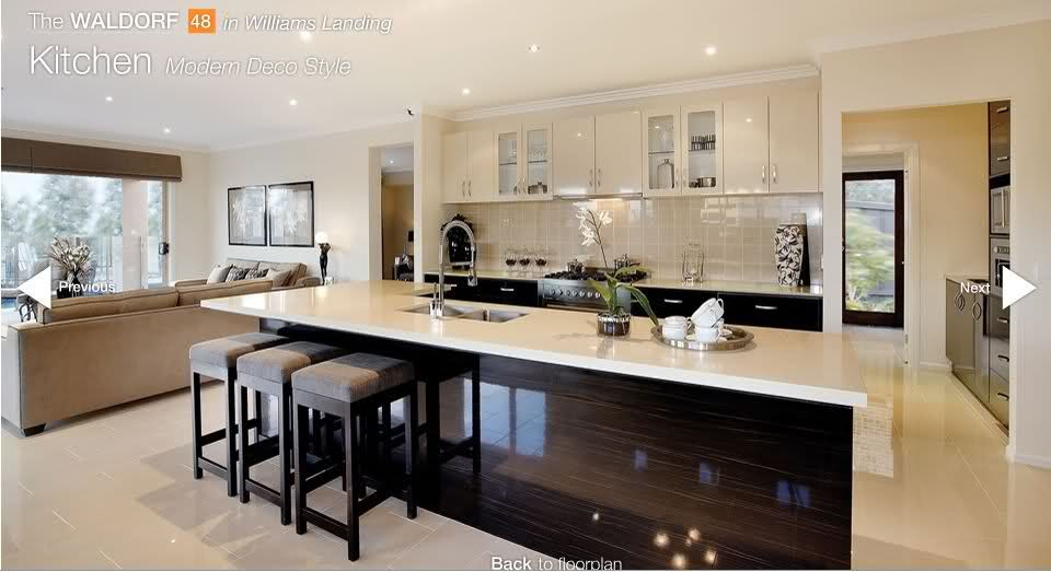 The kitchen of the porter davis waldorf i 39 m totally in for Display home kitchens
