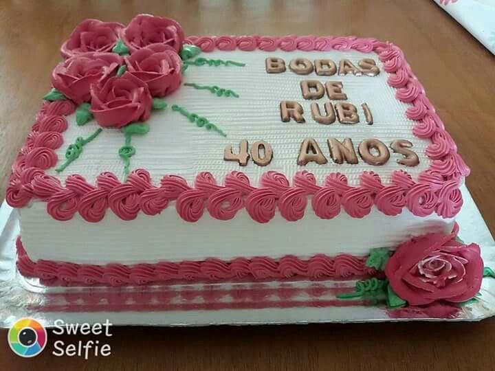 Torta De 40 Anos Com Imagens Bolos De Aniversario Bonitos