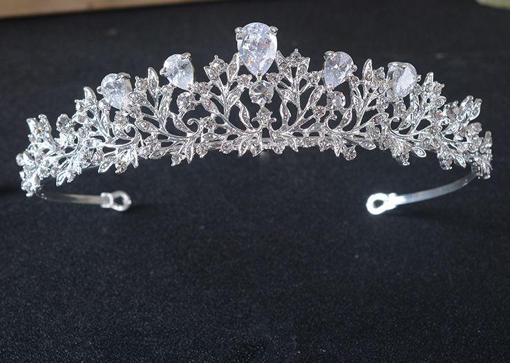 Haarschmuck Kopfschmuck Haarreifen Harreif Haarband Strass Jewelry Ring Silber