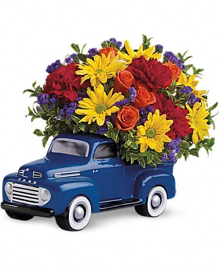 Mazzo Di Fiori Per Uomo.Teleflora S 48 Ford Pickup Bouquet Flowers Delivered In A