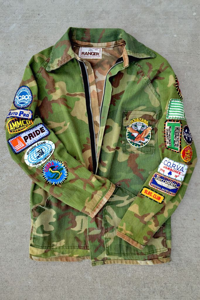 Cobra Ranger Vintage Patched Army Jacket Army Jacket Jackets Cool Outfits