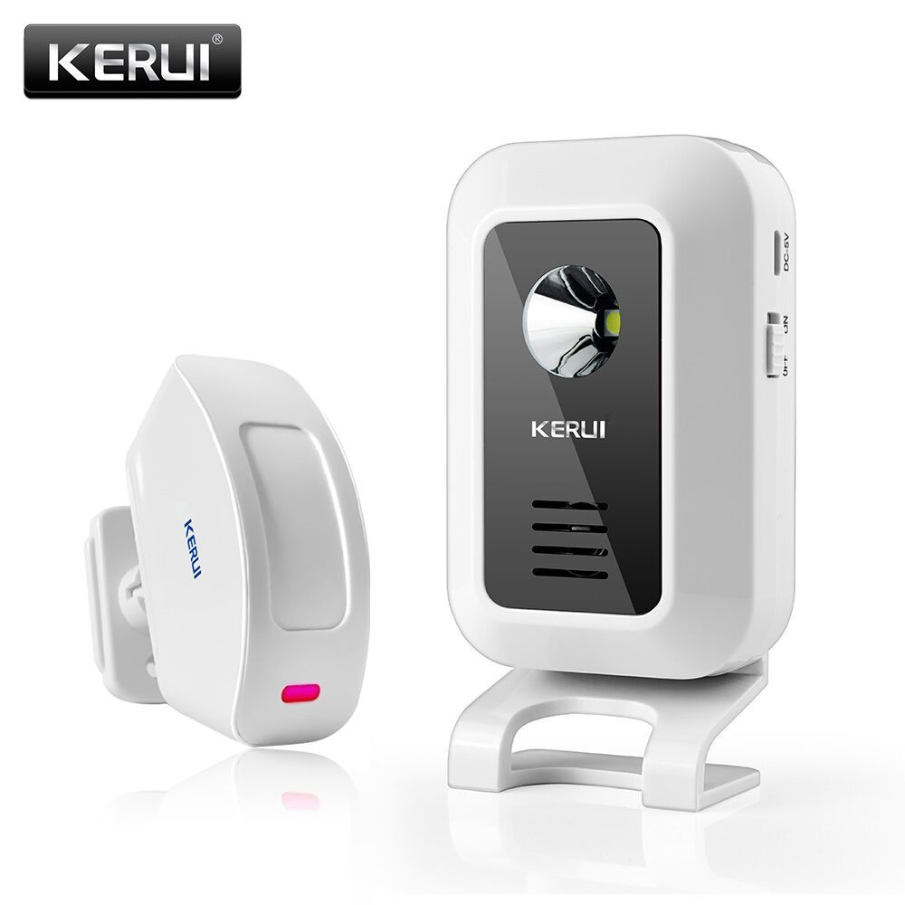 Buy Kerui 433mhz Wireless Curtain Pir Motion Kr M7 Strobe Light Fence Security Beeper Welcome Chime Door Bell Infrared Detector