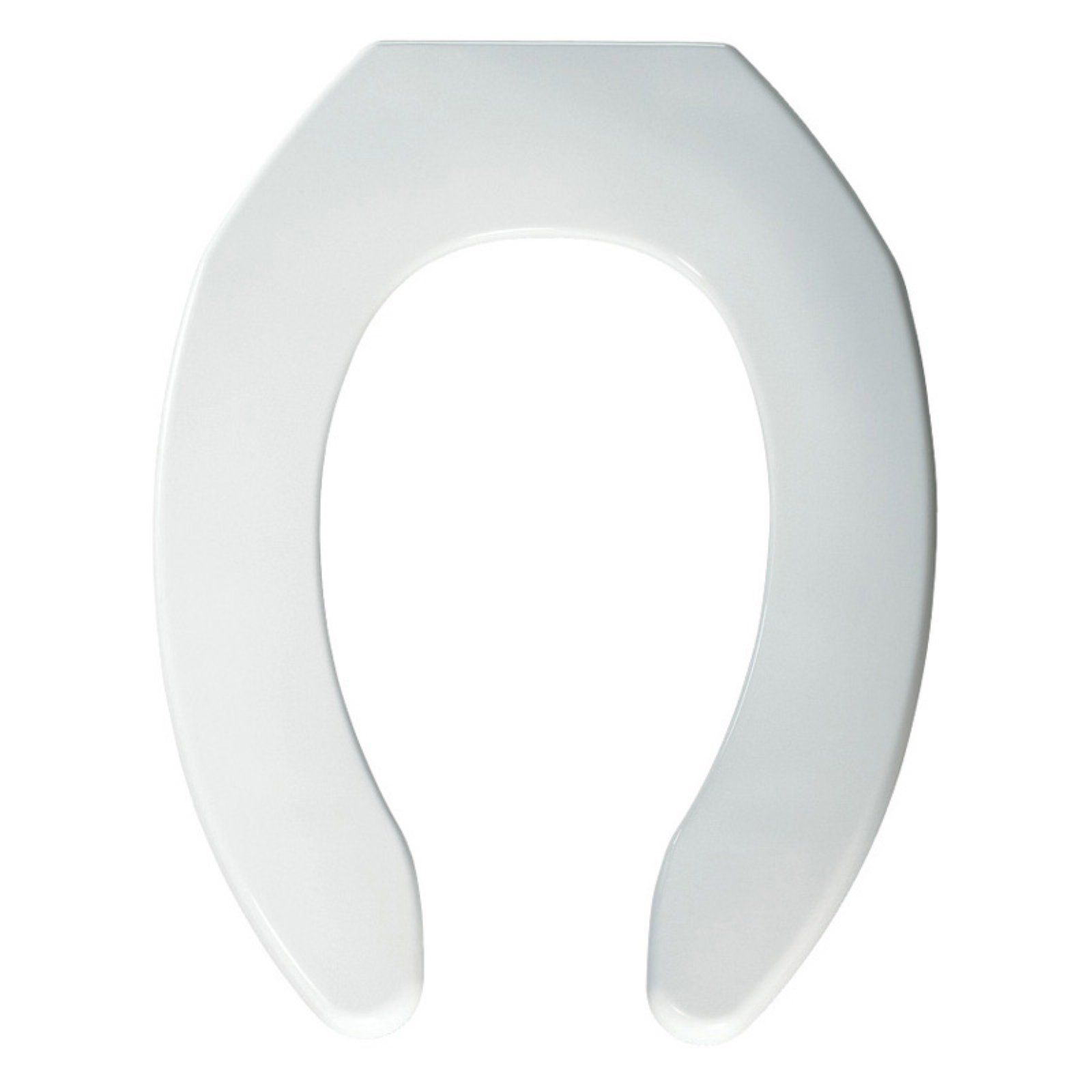 Bemis B1055000 Elongated Open Front Less Cover Toilet Seat In