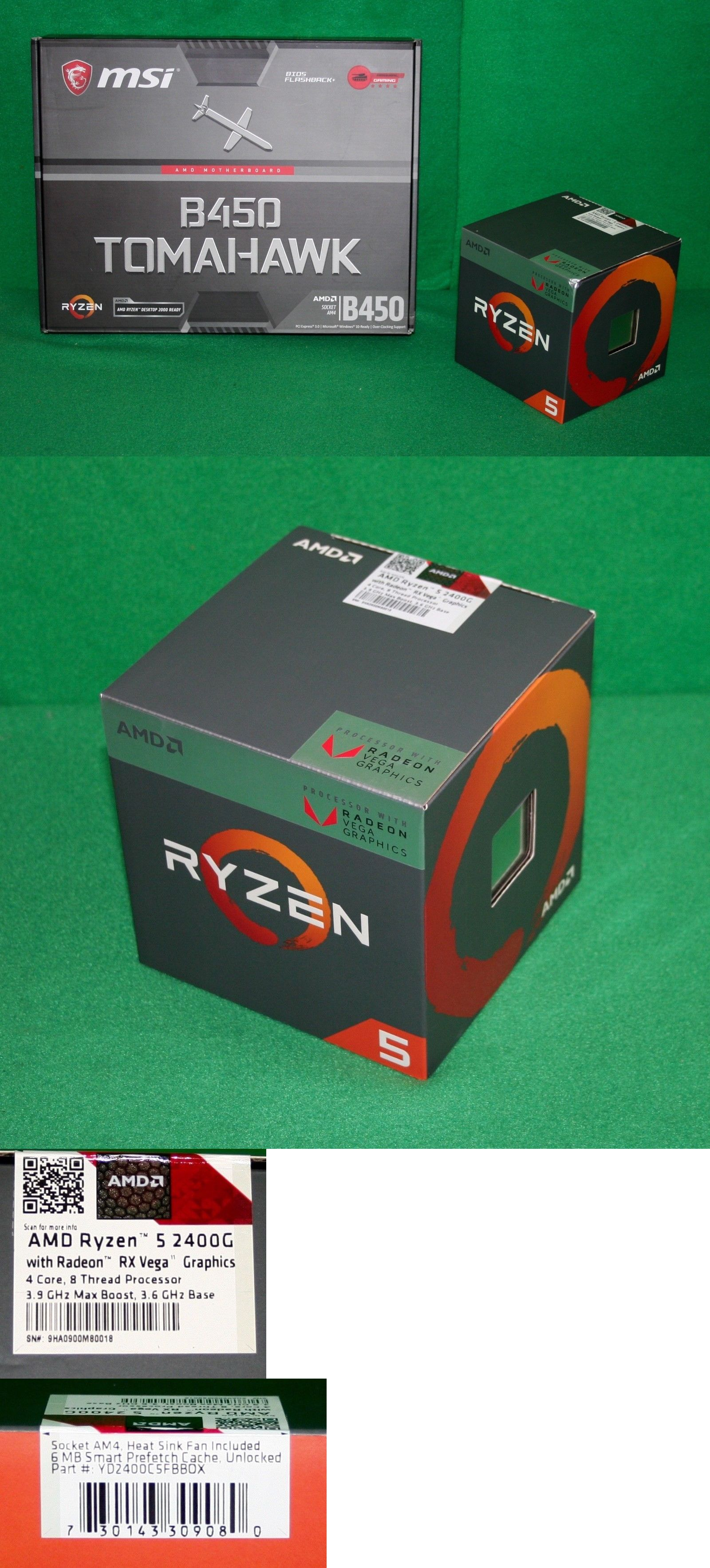 Motherboard and CPU Combos 131511: Amd Ryzen 5 2400G Rx Vega
