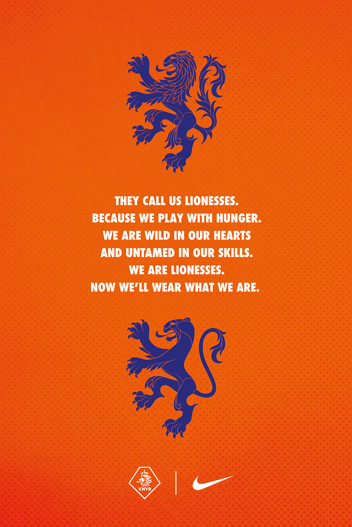 The Netherlands Women S National Team Has Updated Their Crest For The First Time In 46 Years The New Design Sports Graphic Design Lioness Football Team Kits