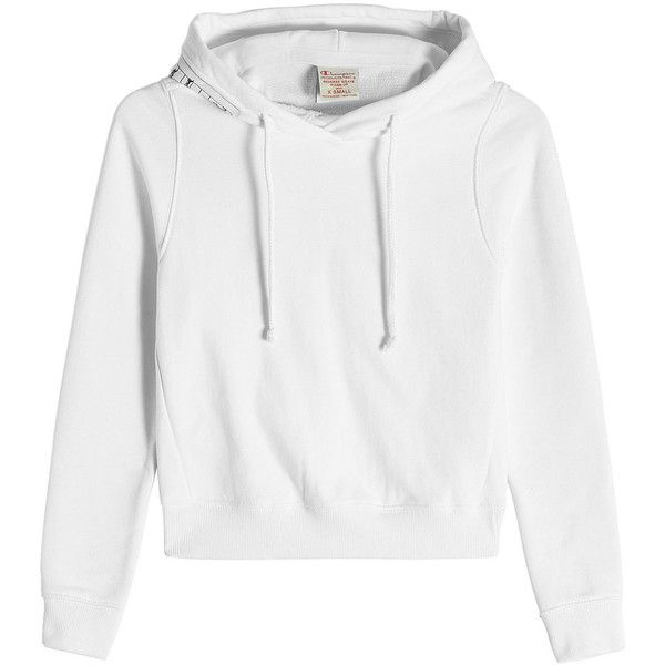 6c93790e7edd0 Vetements X Champion Hoodie ( 460) ❤ liked on Polyvore featuring tops