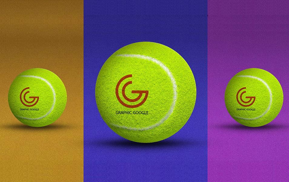 Free Tennis Ball Logo Branding Mockup In 2020 Branding Mockups Logo Branding Free Mockup Templates