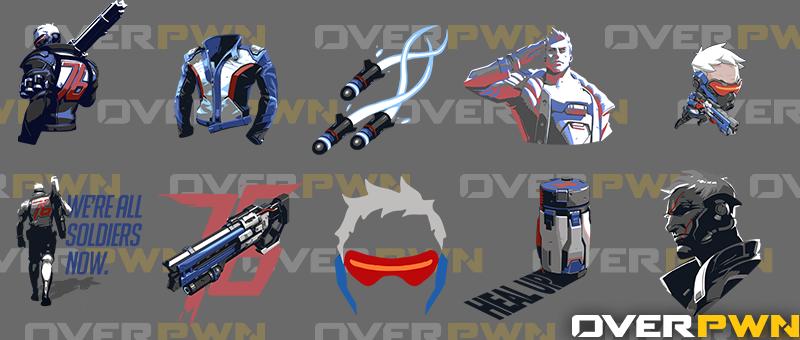 Sprays Soldier76 Png 800 340 Overwatch Overwatch Memes Nerd Shirts