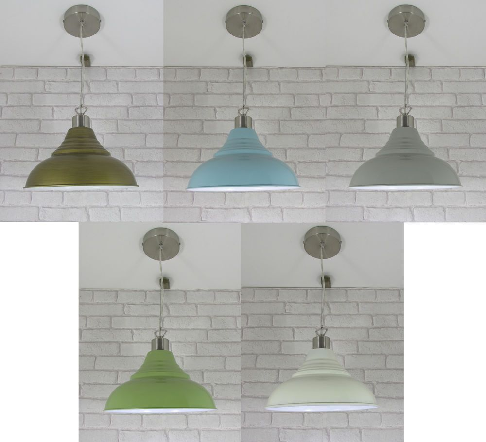 12 30cm vintage retro metal lampshade pendant ceiling rose lamp