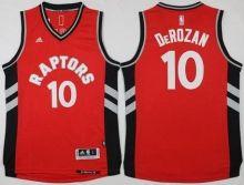 Toronto Raptors  10 DeMar DeRozan Red Gold Stitched NBA Jersey  1e7df5734