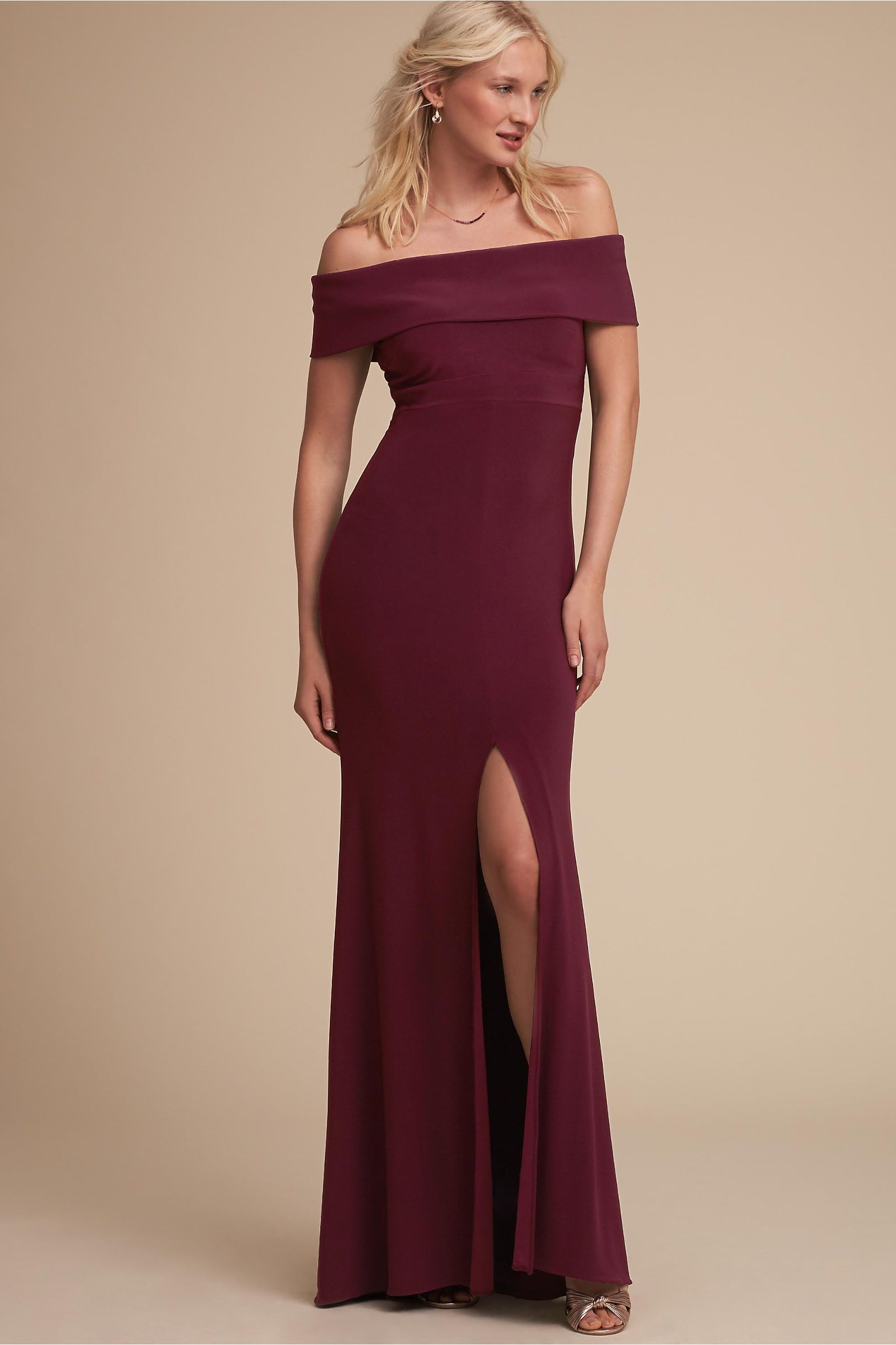 Dress to wear to a fall wedding  BHLDN Ember Dress Wine in Occasion Dresses  BHLDN  Dream Closet