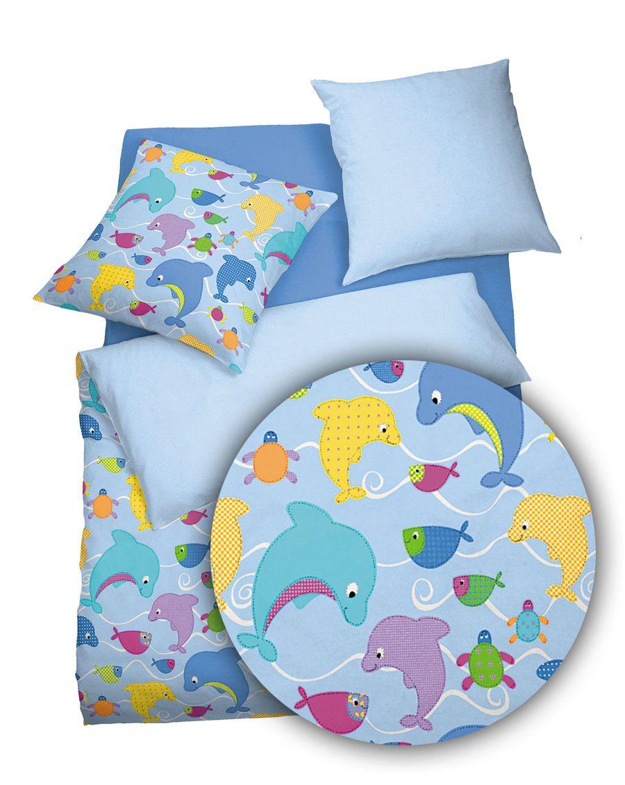 Kuschelige Kinderbettwäsche mit schönen Unterwasserwelt Motiven ...