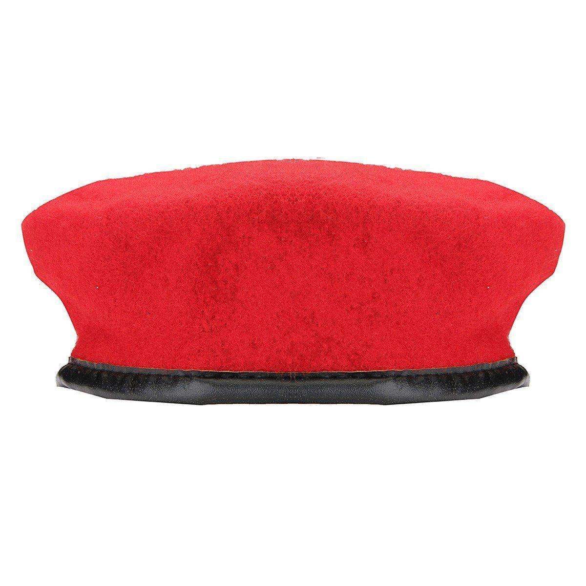 NEW BURGANDY WOOL MENS LADIES BERET CAP HAT ARMY MILITARY FANCY DRESS TACTICAL