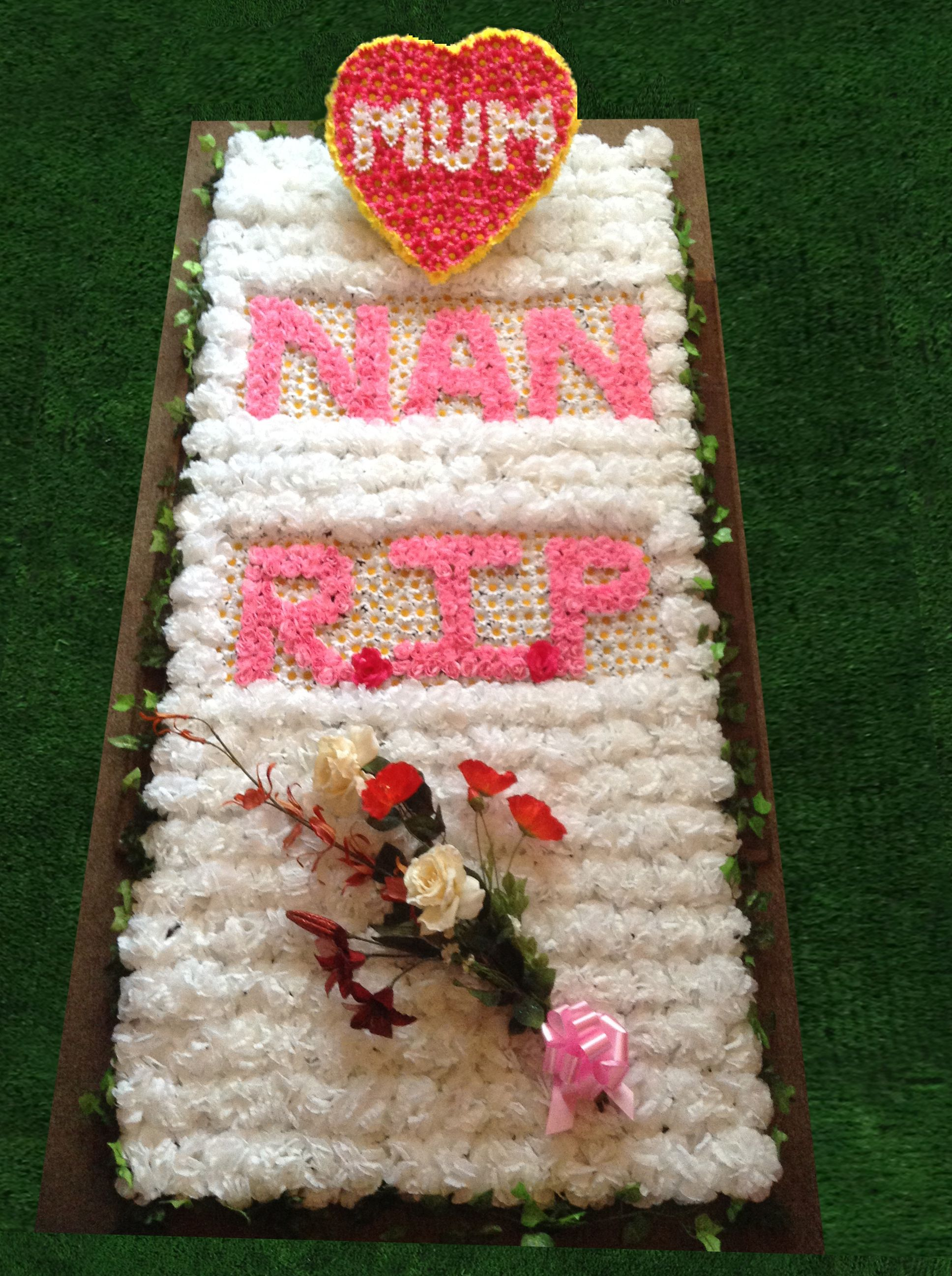 Artificial Flowers Grave Blanket for Cemetery | Cemetery ...