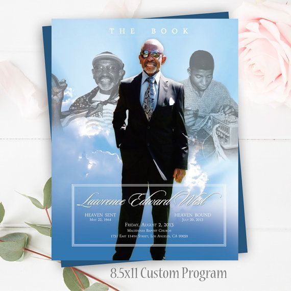 Funeral Memorial Program Celebration Of Life  Page Program