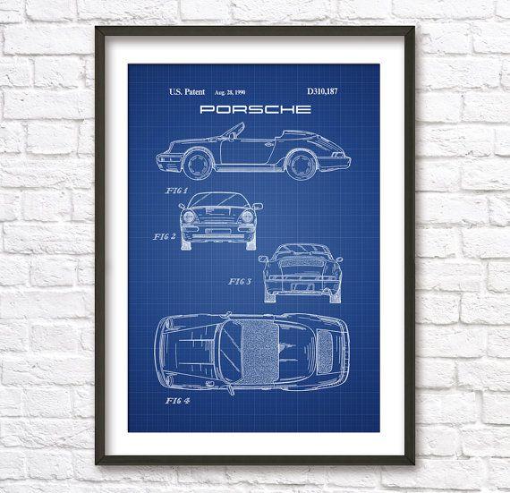 Porsche car blueprint patent wall art poster by blueprintposters porsche car blueprint patent wall art poster by blueprintposters 500 malvernweather Gallery