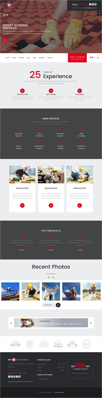 Mr.Handyman - Plumber, Carpenter, Roofing, Renovation HTML template ...