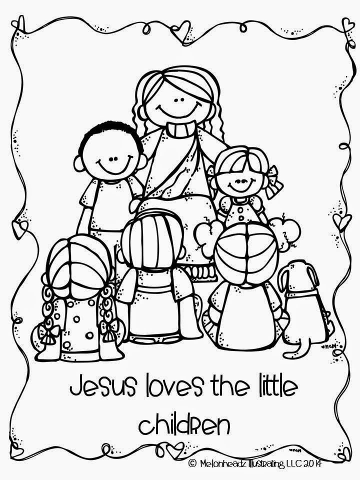 Jesus Loves The Little Children Coloring Page Wallpaper