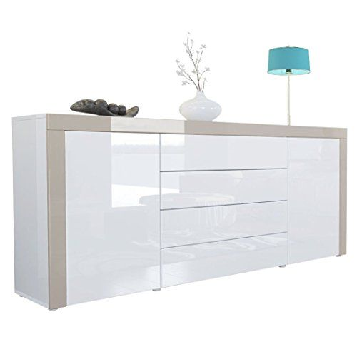 Sideboard Chest of Drawers La Paz in White / White / Sand… | 102b ...